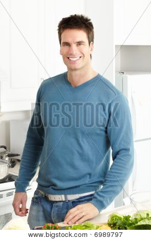 Man At Kitchen