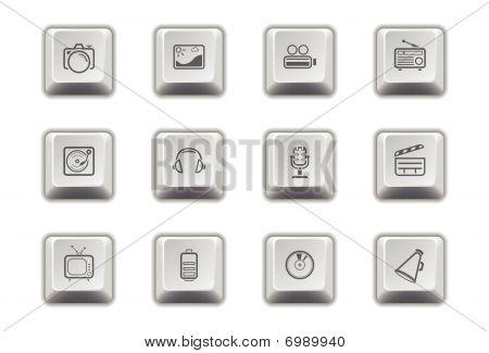 Media Icons 1 - Keypad Style