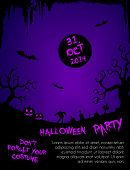 pic of tombstone  - Halloween party illustration  - JPG