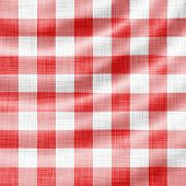 wavy red picnic cloth