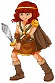 pic of armor suit  - Illustration of a girl in viking suit - JPG