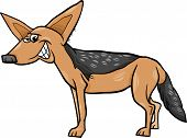 picture of jackal  - Cartoon Illustration of Funny Jackal Wild Animal - JPG