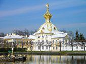 Постер, плакат: Большой дворец Петергоф Россия
