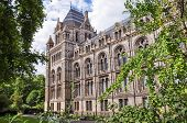 stock photo of kensington  - Side part of Natural History Museum building in London United Kingdom - JPG