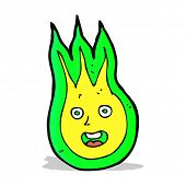 foto of fireball  - cartoon friendly fireball - JPG
