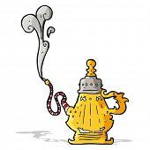 picture of hookah  - cartoon smoking hookah - JPG