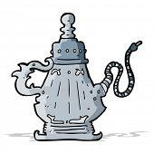 image of hookah  - cartoon hookah - JPG
