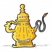 foto of hookah  - cartoon hookah - JPG