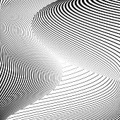 pic of distort  - Design monochrome triangle movement illusion background - JPG