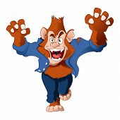 pic of wolfman  - Vector image of a cartoon spooky Werewolf - JPG