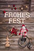 foto of unicycle  - Merry Christmas  - JPG