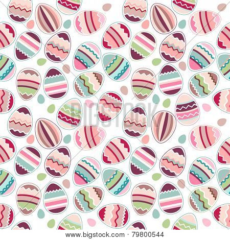 Seamless easter pattern made of stylized eggs