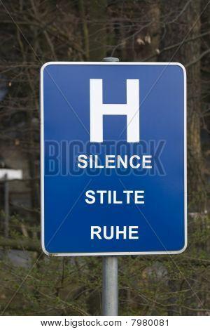 Silence sign.
