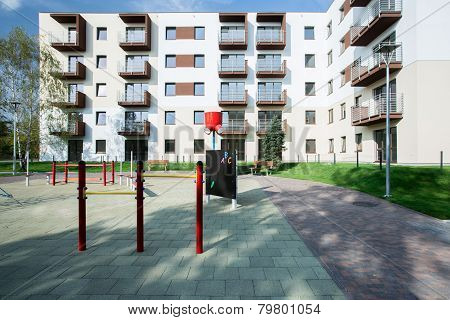 Playground In Front Of Block