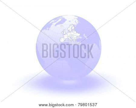 Globe. 3d. Europe. Elements of this image furnished by NASA