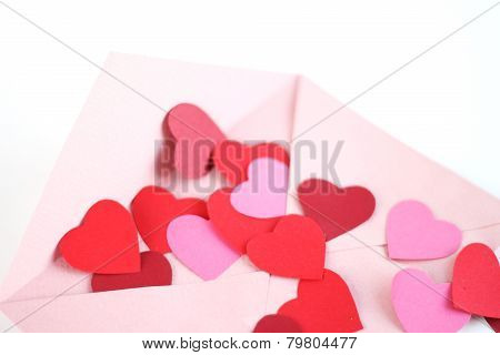 Envelope With Red Hearts