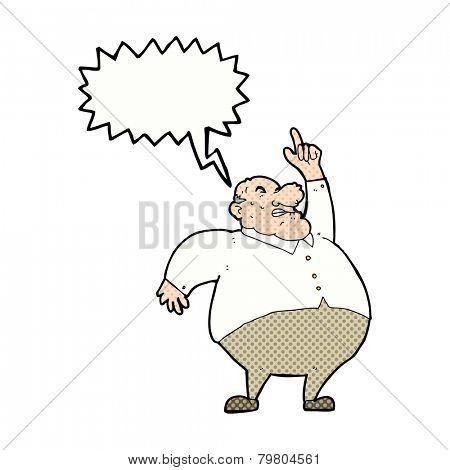 cartoon angry boss