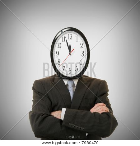 clock on the head