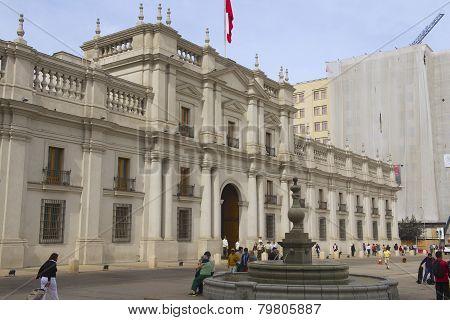 La Moneda presidential palace, Santiago, Chile.