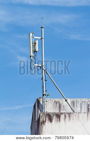 Antennas for telecommunication mounted on the building