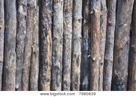 log fence close up shot for background