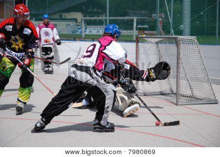 Roller hockey derby in Zell am See, Austria