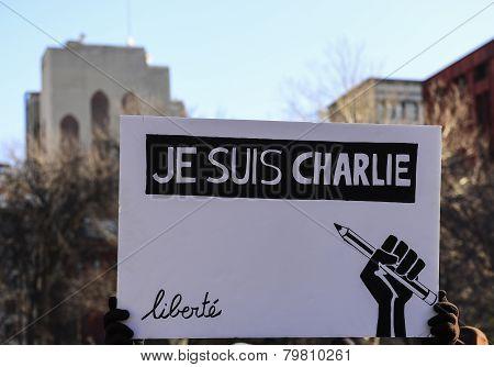 Je Suis Charlie sign