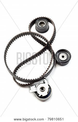 Timing Belt, Two Rollers And The Tension Mechanism.