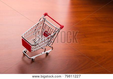 Supermarket trolley on the floor