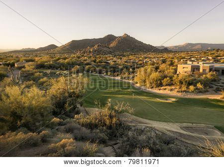 Overview of Scottsdale Arizona,USA golf course land development