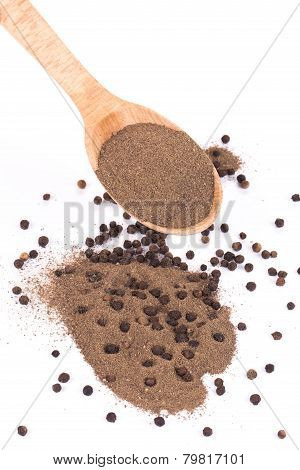peppercorns and milled in spoon