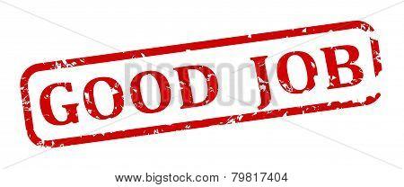 Red Stamp Good Job