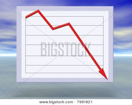 Abstract Concept Illustration Of Financial Crisis Graphs