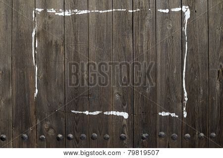 Wooden Background With White Paint