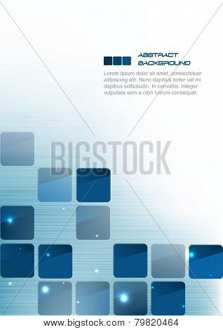 Blue square abstract business background