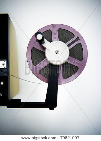 Editing Machine And Purple 8Mm Reel
