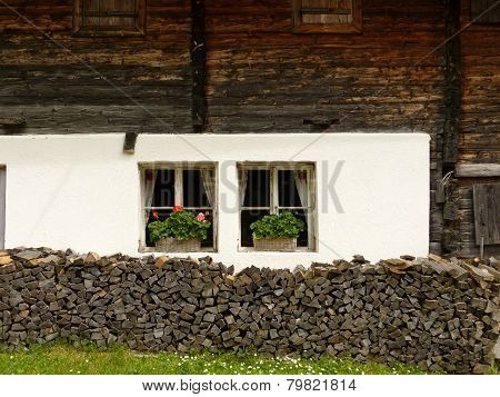 Front of an old farmhouse