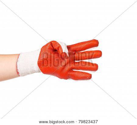 heavy-duty red glove