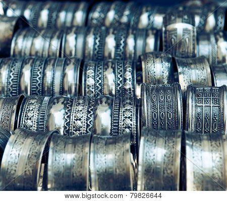 Metall Bracelets On The Market Of Tunisia
