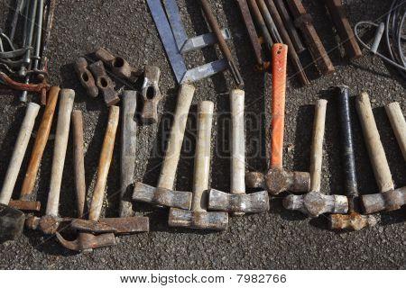 Padrão de coleção de ferramentas de Handtools mão de martelo