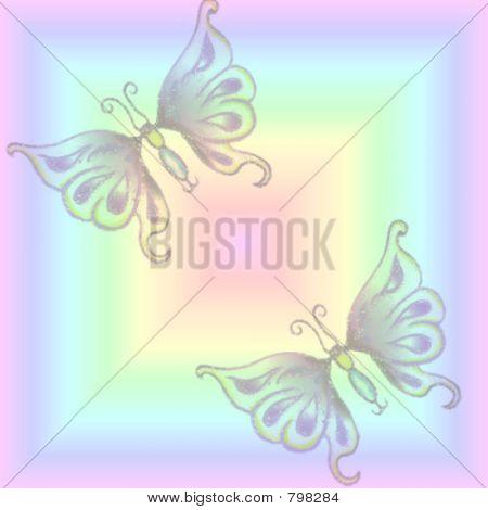 Light Butterfly Background
