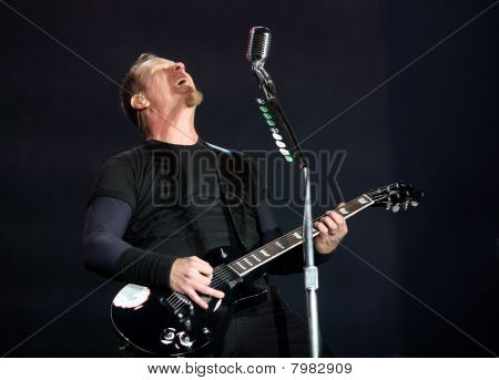 Frontman of american metal group Metallica