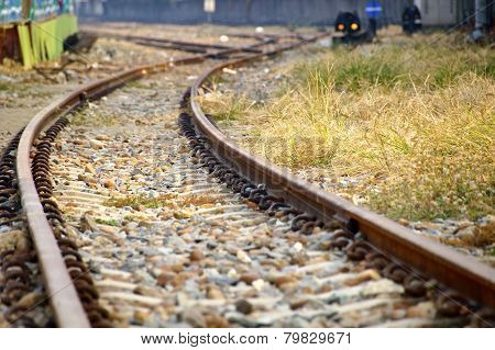 The close view of railway track