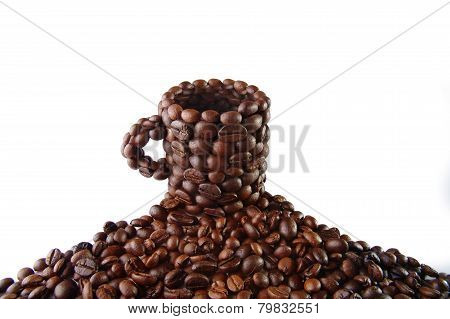 Cup from coffee grains