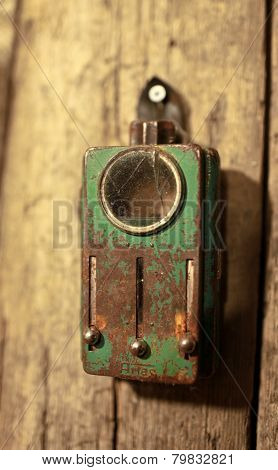 old military tricolor signal flashlight