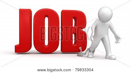 Man and Job (clipping path included)