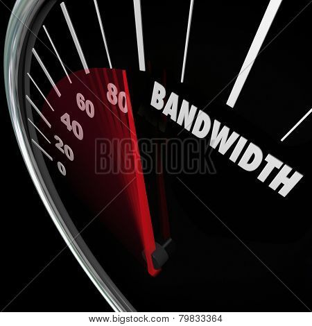 Bandwidth word on a speedometer