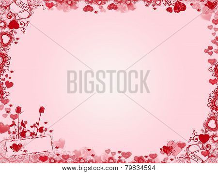 Valentine Background - hearts frame