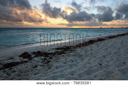 Sunrise in the Atlantic Ocean. Cayo Guillermo. Cuba.