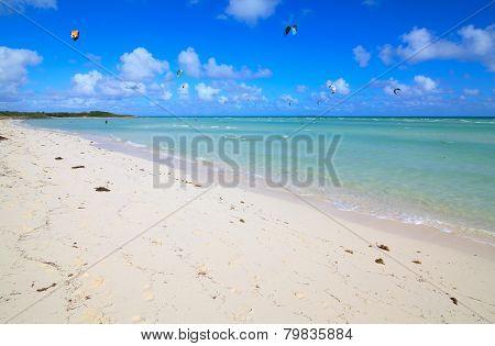 Beach on the island of Cayo Guillermo. Atlantic Ocean. Cuba.
